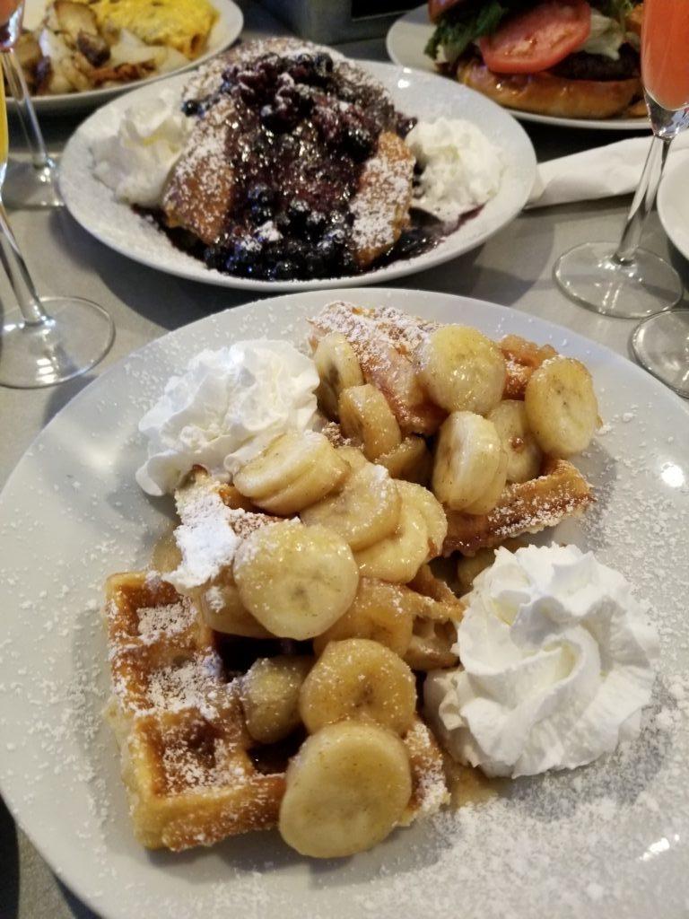 Bananas Foster Waffle - Altea's Eatery