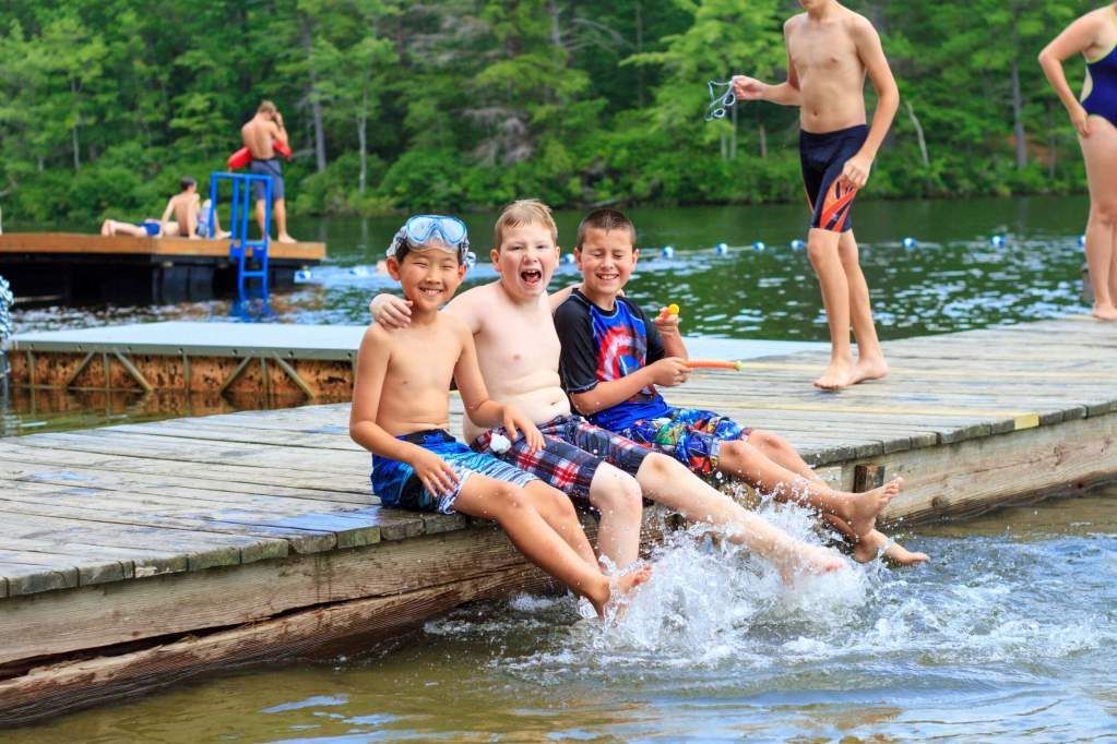 2021 Summer Camp at Takodah YMCA boys swimming