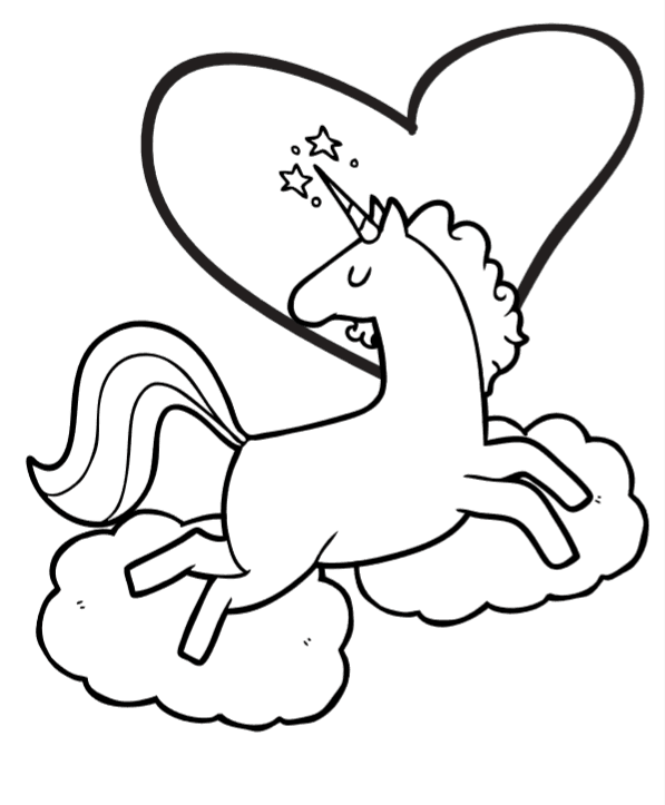 20 Heart And Unicorn Coloring Pages Ideas And Designs