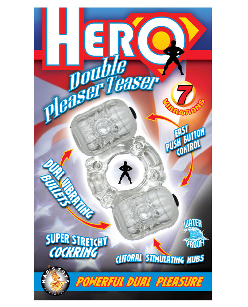 Hero double pleaser teaser cock ring