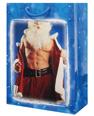 Naked chest santa gift bag