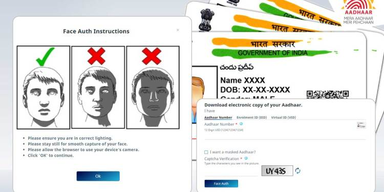 Steps To Download Aadhaar Card Through Face Authentication