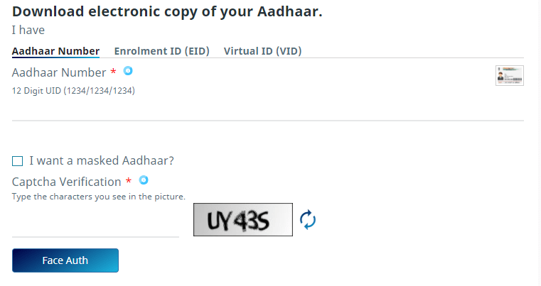 Please follow the following steps to download the Aadhar copy