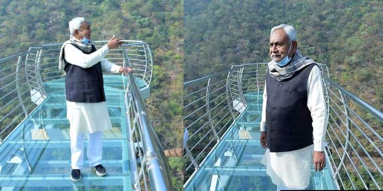 Bihar's first 200 Feet high glass sky walk bridge ready