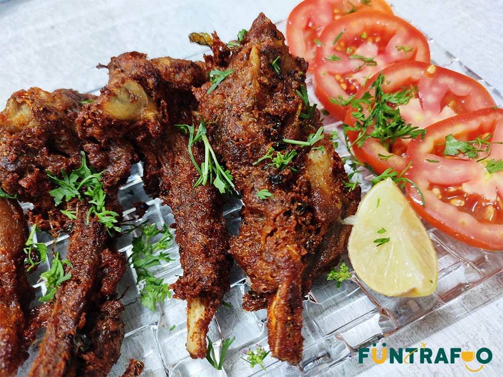 Mutton Chaap fry or Mutton Chop fry