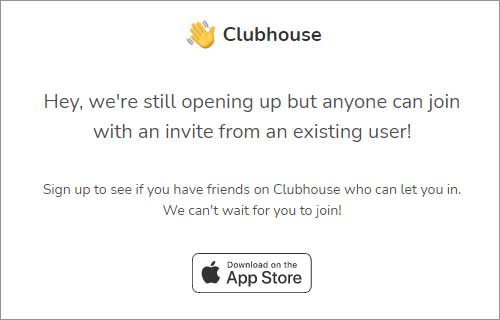 Challenges in joining clubhouse App