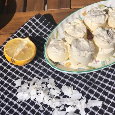 KETO RECIPE | Lemon & Coconut Cheesecake Fat Bombs