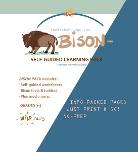 bison thematic unit study