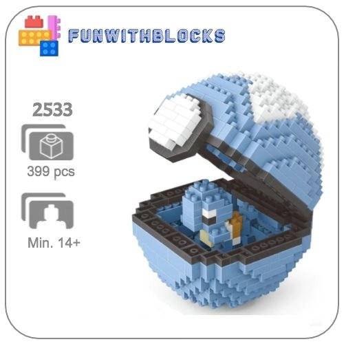 Miniblock Pokémon Pokeball Squirtle