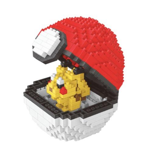 Wise Hawk Pokeball Pikachu miniblock - Pokémon - 397 mini blocks