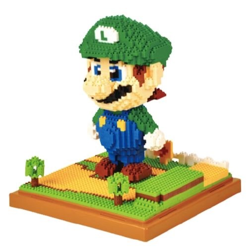 Wise Hawk Luigi miniblock - Super Mario - 1701 mini blocks