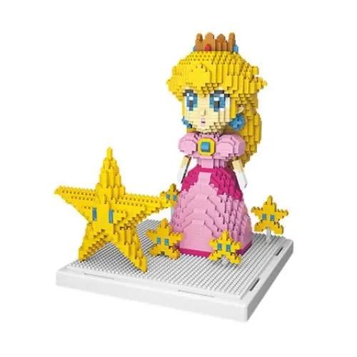 Wise Hawk Prinses Peach miniblock - Super Mario - 1484 mini blocks