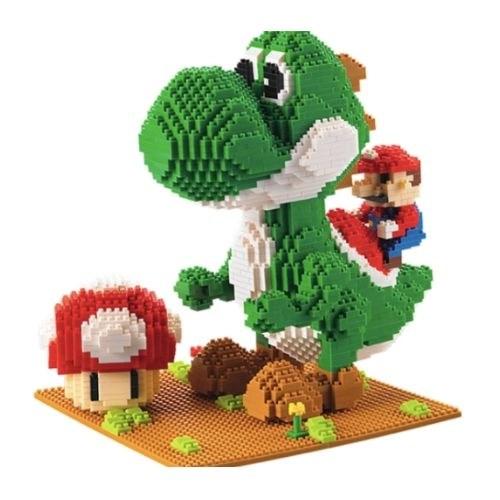 Wise Hawk Yoshi en Mario miniblock - Super Mario - 2208 mini blocks