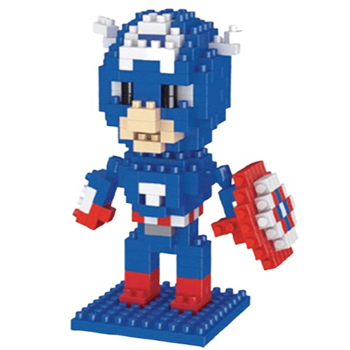 LNO Captain America miniblock - Marvel Avengers - 210 mini blocks