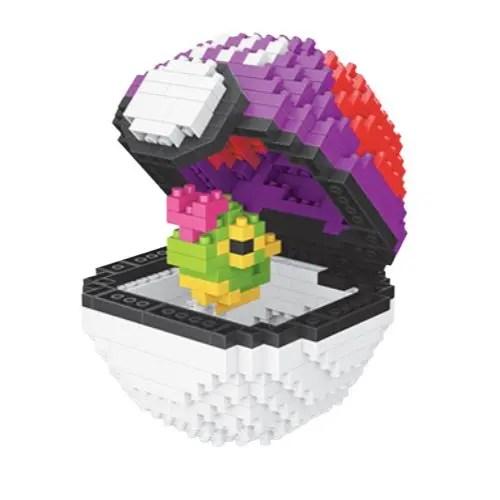 Wise Hawk Pokeball Caterpie miniblock - Pokémon - 458 mini blocks