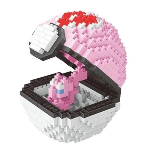 Wise Hawk Pokeball Mew miniblock - Pokémon- 401 mini blocks