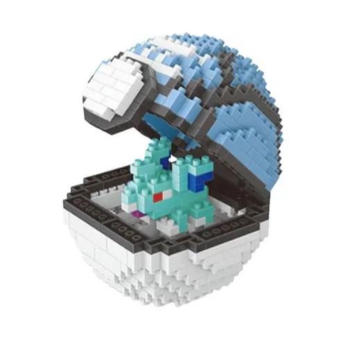 Wise Hawk Pokeball Nidoran♀ miniblock - Pokémon - 443 mini blocks