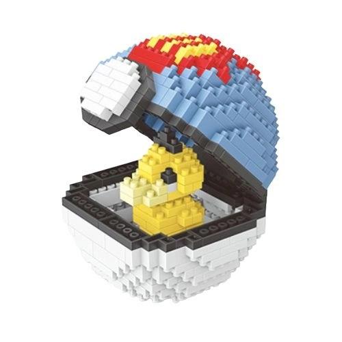 Wise Hawk Pokeball Psyduck miniblock - Pokémon - 414 mini blocks