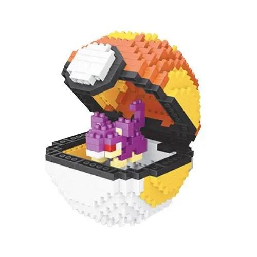 Wise Hawk Pokeball Rattata miniblock - Pokémon - 436 mini blocks