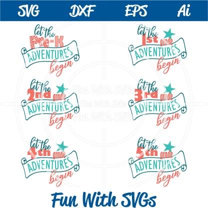 grade school svgs Let the Grade School Adventures Begin SVG Bundle