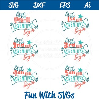 grade school svgs Let the Grade School Adventures Begin SVG Bundle