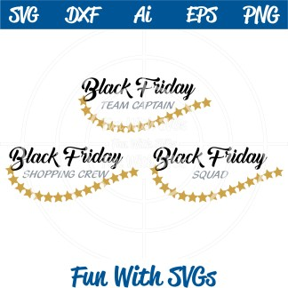 Black Friday Team Shopping SVG Image