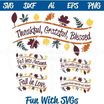 Inspirational Fall Sentiments SVG Bundle