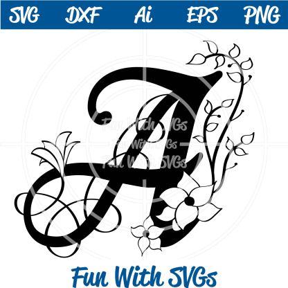 Letter A Monogram SVG Image