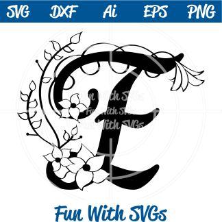 Letter E Monogram SVG Image