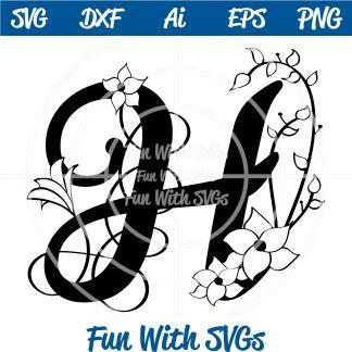 Letter H Monogram SVG Image