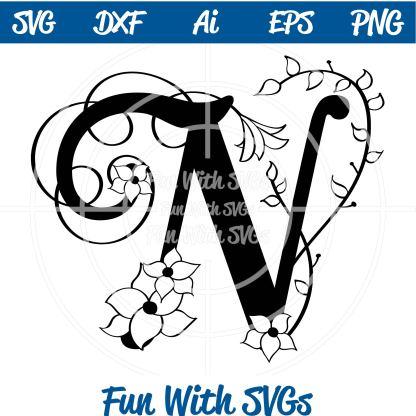 Letter N Monogram SVG Image