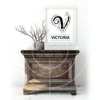 Letter V Mock Up Image