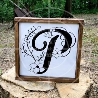 Monogram P Mockup Image