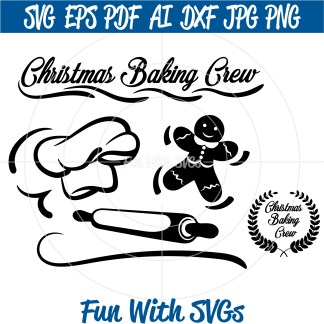 Christmas Baking Crew SVG Image