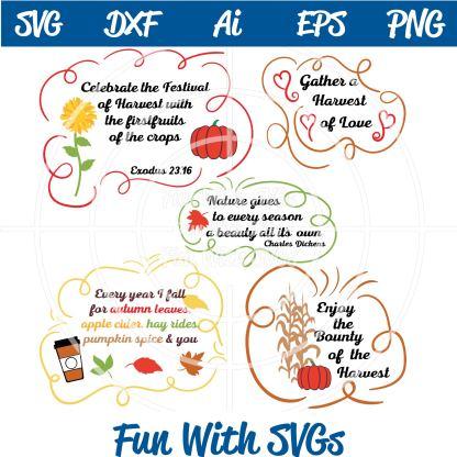 Autumn Sentiments SVG Image
