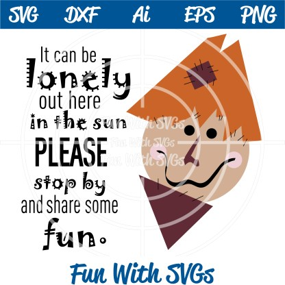 Scarecrow face svg image