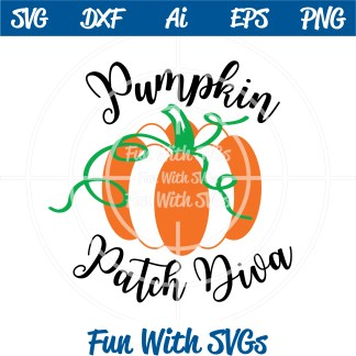Pumpkin Patch Diva SVG Image