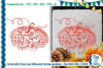 Zentangle Pumpkin SVG Image