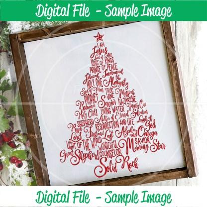 Names of Jesus SVG Sample Image