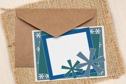 Snowflake Greeting Card Sample Image