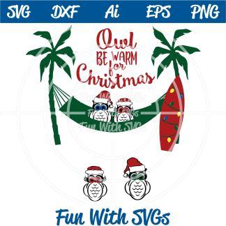 Owl Christmas SVG Image