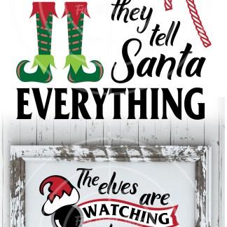 Santa's Elves SVG Image