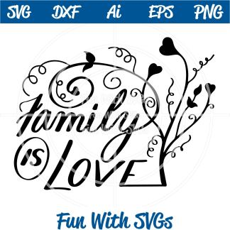 Family is Love SVG Image