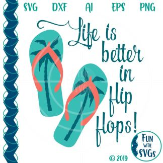 flip flop summer fun svg image