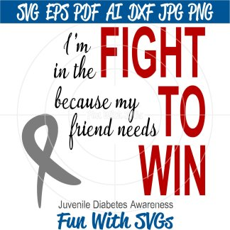 Juvenile Diabetes Awareness SVG, Fight to Win Image
