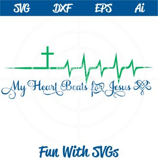 My Heart Beats for Jesus SVG Image