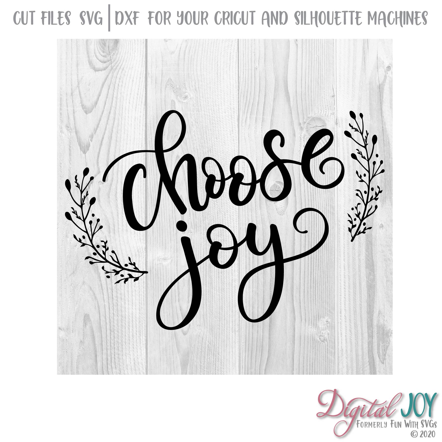 Download Choose Joy SVG Cut File ~ Fun With SVGs ~ Simple Reminder