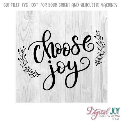 Choose Joy SVG Cut File Image