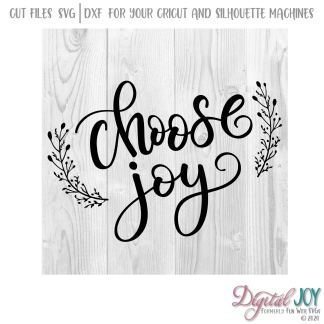 Choose Joy SVG Cut File Image