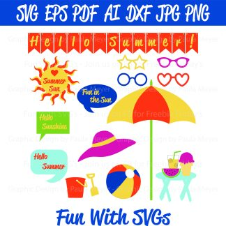 Beach Party Photo Booth SVG Image